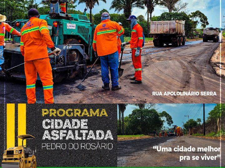 O asfalto cai e transforma a cidade de Pedro do Rosário num lugar melhor pra se viver